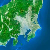 関東地方の衛星画像