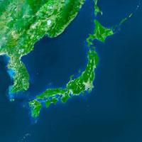 日本列島全体の衛星画像