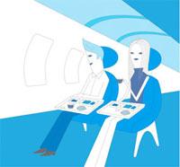 飛行機の機内イメージ