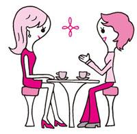 おしゃべりを楽しむ女性
