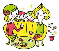 ママ友達と子供達のイメージ