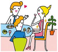 会食のイメージ