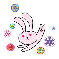 はねるウサギのイメージ