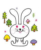 森のウサギのイメージ