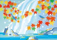 滝と紅葉 02422000023| 写真素材・ストックフォト・画像・イラスト素材|アマナイメージズ