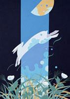 ウサギと月 02422000028| 写真素材・ストックフォト・画像・イラスト素材|アマナイメージズ