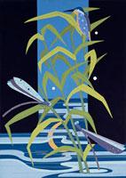 カワセミと蜻蛉 02422000029| 写真素材・ストックフォト・画像・イラスト素材|アマナイメージズ