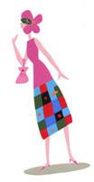 頭にピンクの花がついた女性 02422000032| 写真素材・ストックフォト・画像・イラスト素材|アマナイメージズ