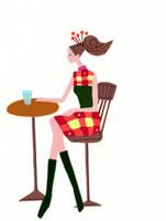 椅子に座る横向きの女性 02422000043| 写真素材・ストックフォト・画像・イラスト素材|アマナイメージズ