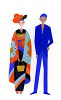 着物の女性とスーツの男性 02422000047| 写真素材・ストックフォト・画像・イラスト素材|アマナイメージズ