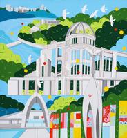世界遺産 広島原爆ドーム 02422000071| 写真素材・ストックフォト・画像・イラスト素材|アマナイメージズ