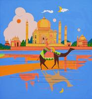 世界遺産 インド タージマハル 02422000075| 写真素材・ストックフォト・画像・イラスト素材|アマナイメージズ