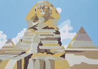 エジプト スフィンクスと三大ピラミッド