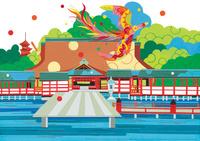 世界遺産 宮島 02422000142| 写真素材・ストックフォト・画像・イラスト素材|アマナイメージズ