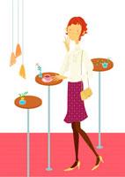 カフェでコーヒーを飲む若い女性 02423000006| 写真素材・ストックフォト・画像・イラスト素材|アマナイメージズ