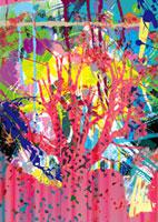 ピンク色の木のシルエット 02427000002| 写真素材・ストックフォト・画像・イラスト素材|アマナイメージズ