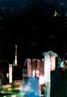 都会の夜景と光 イラスト