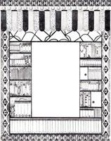 装飾のある本棚と本のフレーム 02427000016| 写真素材・ストックフォト・画像・イラスト素材|アマナイメージズ