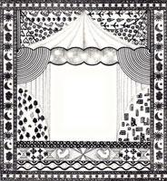 天幕とモザイク模様のフレーム 02427000018| 写真素材・ストックフォト・画像・イラスト素材|アマナイメージズ