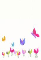 蝶々とお花のイラスト 02427000025  写真素材・ストックフォト・画像・イラスト素材 アマナイメージズ