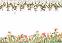 お花の背景イラスト 02427000027  写真素材・ストックフォト・画像・イラスト素材 アマナイメージズ