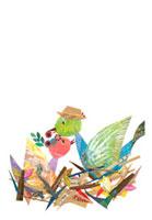 鳥の親子のイラスト