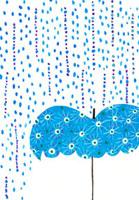 雨と傘のイラスト 02427000033| 写真素材・ストックフォト・画像・イラスト素材|アマナイメージズ