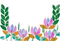 花と葉のフレーム 02427000070| 写真素材・ストックフォト・画像・イラスト素材|アマナイメージズ