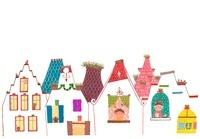 立ち並ぶ家のイラスト