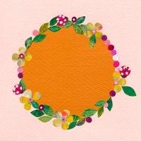 お花とてんとう虫のフレーム 02427000088| 写真素材・ストックフォト・画像・イラスト素材|アマナイメージズ