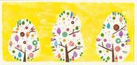 木とお家のコラージュイラスト