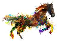 走る馬のCG