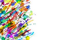 カラフルな絵具のアブストラクト