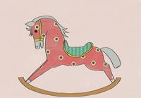 木馬のイラスト 02427000174  写真素材・ストックフォト・画像・イラスト素材 アマナイメージズ