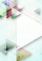 三角形が散りばめられたアブストラクト