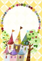 お城と木のフレーム 02427000197| 写真素材・ストックフォト・画像・イラスト素材|アマナイメージズ