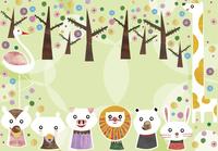木と動物達 02427000198| 写真素材・ストックフォト・画像・イラスト素材|アマナイメージズ