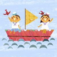ボートと子供達 02427000206| 写真素材・ストックフォト・画像・イラスト素材|アマナイメージズ