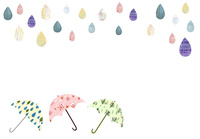 雨つぶと傘 02427000221| 写真素材・ストックフォト・画像・イラスト素材|アマナイメージズ