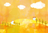秋の風景 02427000232  写真素材・ストックフォト・画像・イラスト素材 アマナイメージズ