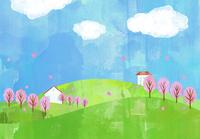 春の風景 02427000233  写真素材・ストックフォト・画像・イラスト素材 アマナイメージズ