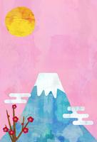 富士山と梅