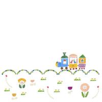 お花畑と汽車 02427000260| 写真素材・ストックフォト・画像・イラスト素材|アマナイメージズ