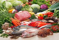 野菜・魚介・肉集合 02428000008| 写真素材・ストックフォト・画像・イラスト素材|アマナイメージズ