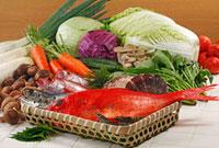 野菜・魚介集合 02428000011| 写真素材・ストックフォト・画像・イラスト素材|アマナイメージズ