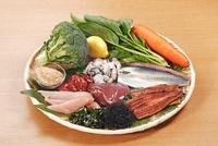 髪に良い栄養素を含む食材 02428000113| 写真素材・ストックフォト・画像・イラスト素材|アマナイメージズ