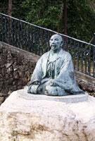 湯けむり広場の太閤秀吉の像
