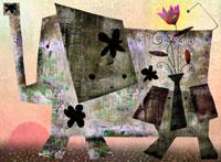 秋のゾウの親子 02432000054| 写真素材・ストックフォト・画像・イラスト素材|アマナイメージズ
