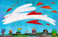 空とウサギ 02432000098| 写真素材・ストックフォト・画像・イラスト素材|アマナイメージズ