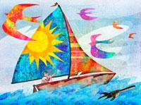 鳥とヨット